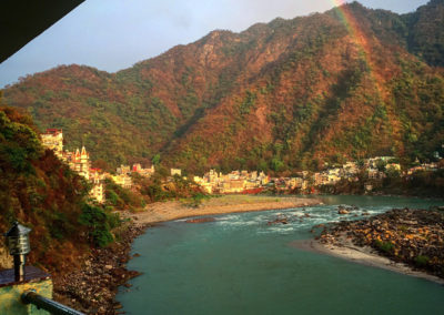Rainbow over the Ganges - Rishikesh